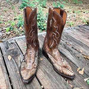 Men's Lucchese Snakeskin Western Cowboy Boots